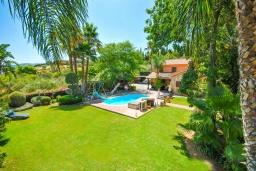 Территория. Испания, Малага : Фантастическая вилла с бассейном и зеленым двориком с барбекю и детской площадкой, 5 спален, 3 ванные комнаты, парковка, Wi-Fi