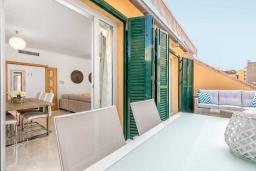 Балкон. Испания, Малага : Апартамент в центре Малаги с просторной гостиной, двумя спальнями, двумя ванными комнатами и большим балконом