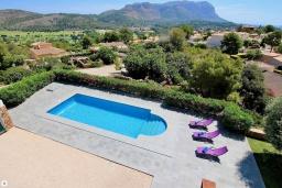 Бассейн. Испания, Гандия : Роскошная вилла с бассейном и зеленым двориком с барбекю, 3 спальни, 3 ванные комнаты, парковка, Wi-Fi