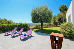 Территория. Испания, Гандия : Роскошная вилла с бассейном и зеленым двориком с барбекю, 3 спальни, 3 ванные комнаты, парковка, Wi-Fi