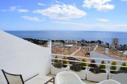 Балкон. Испания, Марбелья : Студия в комплексе с бассейном и балконом с шикарным видом на море