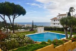 Бассейн. Испания, Марбелья : Студия в комплексе с бассейном и балконом с шикарным видом на море