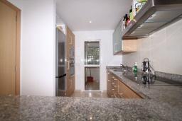 Кухня. Испания, Марбелья : Просторный апартамент в комплексе с бассейном недалеко от пляжа, с гостиной, тремя спальнями, тремя ванными комнатами и террасой