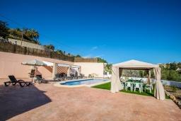 Беседка. Испания, Аликанте : - Изысканная современная вилла с бассейном и террасой с барбекю, 5 спален, 2 ванные комнаты, парковка на 4 места, Wi-Fi