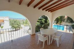 Беседка. Испания, Кальпе : - Роскошная вилла с бассейном и зеленым садом, 4 спальни, 2 ванные комнаты, барбекю, парковка, Wi-Fi