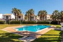 Бассейн. Испания, Менорка : Прекрасный дом недалеко от тренажерного зала и пляжа, 3 спальни, 3 ванные, wi-fi, бассейн, сад