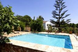 Бассейн. Испания, Менорка : Красивая и милая вилла с частным бассейном и джакузи и открытый сад, а также 3 спальни с кондиционерами