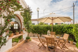 Зелёный сад. Испания, Менорка : Дом для отпуска находится в семейном районе рядом с морем, барами, ресторанами и местным портом, 2 спальни, 2 ванные комнаты,можно с домашними животными
