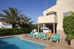 Бассейн. Испания, Менорка : 3-спальная вилла на 6 человек, расположенная в центре города, в районе для семейного отдыха