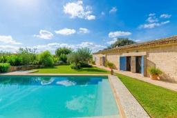 Бассейн. Испания, Кан-Пикафорт : Прекрасная вилла с бассейном и садом в Синеу