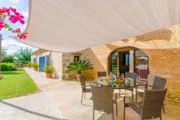 Терраса. Испания, Кан-Пикафорт : Прекрасная вилла с бассейном и садом в Синеу