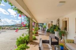 Терраса. Испания, Кан-Пикафорт : Просторная семейная вилла с собственным бассейном и садом в городе Ариани