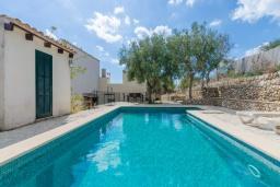 Вид на виллу/дом снаружи. Испания, Порт де Алькудия : Прекрасная вилла с частным бассейном в городе Льосета, у подножия гор Трамунтана