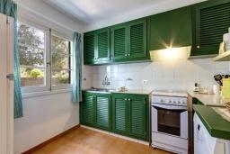 Кухня. Испания, Менорка : Апартаменты рядом с пляжем на первом этаже с общим басенном, 2 спальни для 4 гостей