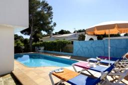 Бассейн. Испания, Менорка : Апартаменты рядом с пляжем на первом этаже с общим басенном, 2 спальни для 4 гостей