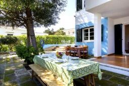 Беседка. Испания, Менорка : Апартаменты рядом с пляжем на первом этаже с общим басенном, 2 спальни для 4 гостей