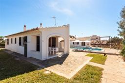 Терраса. Испания, Менорка : Апартаменты для 4 человек с прямым доступом к морю по частной тропе! Терраса, общий бассейн, спальня, wi-fi