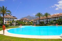 Территория. Испания, Новая Андалусия : Очаровательные апартаменты располагают 3 спальнями с гигантской солнечной террасой. Находятся в нескольких минутах ходьбы от Пуэрто Банус и пляжа.