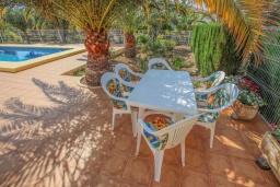 Беседка. Испания, Мораира : Небольшая уютная вилла с бассейном, 3 спальни, 2 ванные комнаты, бесплатный Wi-Fi