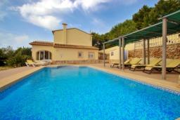 Бассейн. Испания, Кальпе : Современная вилла расположенная в тихом месте в 5 минутах езды от пляжа, 4 спальни, 2 ванные комнаты, wi-fi, парковка