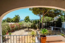 Балкон. Испания, Мораира :  - Очаровательная вилла с видом на море и частным бассейном, 3 спальни, 2 ванные комнаты, парковка, WIFI