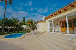 Вход. Испания, Мораира : Вилла с одним из самых красивых видов на окрестности благодаря расположению на холме,3 спальни, 2 ванные комнаты, парковка, частный бассейн
