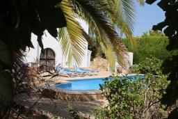 Зелёный сад. Испания, Кальпе : Светлая просторная вилла с видом на море, 2 спальни, ванная комнаты, частный басейн