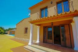Вход. Испания, Бенитачель : Современный небольшой уютный дом для отдыха, 2 спальни, 2 ванные комнаты, частный бассейн