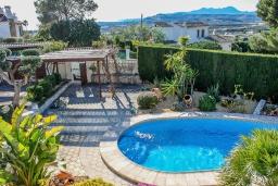 Бассейн. Испания, Бенитачель : Замечательная вилла с красивым садом во дворе, панорамным видом, частный бассейн, 4 спальни, 4 ванные комнаты, WIFI