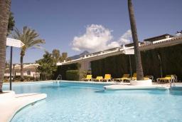 Территория. Испания, Новая Андалусия : Фантастические апартаменты с видом на горы расположены в городе Марбелья. Включают светлую террасу, а также бассейн с подогревом.