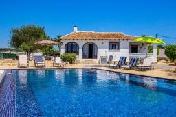 Бассейн. Испания, Мораира : Одноэтажная вилла с панорамным видом и частным бассейном, 3 спальни,ванная комната, стоянка на 3 машины,WIFI, кондеционер