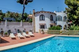 Бассейн. Испания, Бенисса : Красивая вилла в традиционном испанском стиле, 2 спальни, 2 ванные комнаты, частный бассейн, парковка