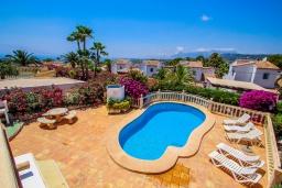 Парковка. Испания, Мораира : Шикарная двухэтажная вилла с видом на море и частным бассейном, 4 спальни, 3 ванные комнаты, WIFI, кондиционеры