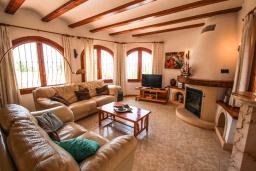 Гостиная / Столовая. Испания, Мораира : Шикарная двухэтажная вилла с видом на море и частным бассейном, 4 спальни, 3 ванные комнаты, WIFI, кондиционеры