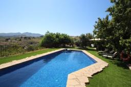 Бассейн. Испания, Бенисса : Коттедж для отдыха в средиземноморском стиле с красивым садом из оливковых деревьев и частным бассейном, 2 спальни, ванная комната, камин