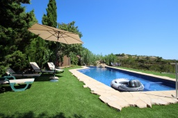 Зона отдыха у бассейна. Испания, Бенисса : Коттедж для отдыха в средиземноморском стиле с красивым садом из оливковых деревьев и частным бассейном, 2 спальни, ванная комната, камин