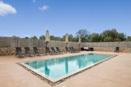Бассейн. Испания, Кала Миллор : Элегантная вилла с собственным бассейном в городе Сан-Льоренс-де-Кардассар, на востоке Майорки