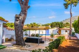 Беседка. Испания, Эль-Портет : Двухэтажная вилла расположенная на тихой улице возле знаменитой бухты Эль-Портет, частный бассейн, 5 спален, 2 ванные комнаты, кондиционер