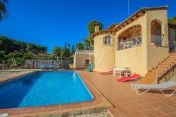 Зона отдыха у бассейна. Испания, Мораира : Вилла в традиционном испанском стиле недалеко от пляжа, частный бассейн, 3 спальни, 1 ванная комната, WIFI