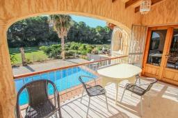Терраса. Испания, Мораира : Вилла в традиционном испанском стиле недалеко от пляжа, частный бассейн, 3 спальни, 1 ванная комната, WIFI