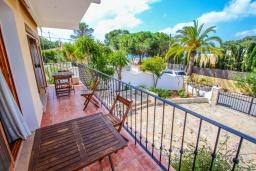 Балкон. Испания, Эль-Портет : Ухоженная вилла в тихом месте, частный бассейн, 3 спальни, ванная комната