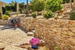 Зелёный сад. Испания, Бенитачель : Шикарная очень комфортабельная вилла, расположенная в тихом жилом районе на склоне холма, частный бассейн, 4 спальни, 3,5 ванные комнаты, Wi-Fi