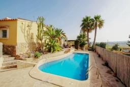 Бассейн. Испания, Теулада : Прекрасная вилла с панорамным видом на холмы и горы, частный бассейн, 3 спальни, 2 ванные комнаты, WiFi, парковка