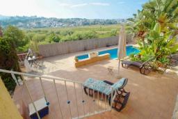 Вид. Испания, Теулада : Прекрасная вилла с панорамным видом на холмы и горы, частный бассейн, 3 спальни, 2 ванные комнаты, WiFi, парковка