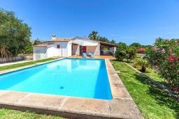Бассейн. Испания, Польенса : Вилла дом для отпуска с кондиционером, рассчитан на проживание до 4 человек с 2 спальнями, 1 ванной комнатой и собственным бассейном.