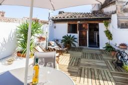 Терраса. Испания, Польенса : Уютная вилла с террасой и кондиционерами, 3 спальни, 2 ванных комнаты, WiFi, барбекю