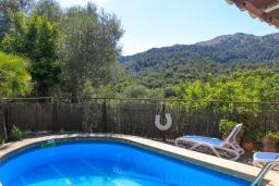 Вид. Испания, Польенса : Вилла расположенная на острове Майорка, оборудован кондиционером, собственный частный бассейн, для размещения до 6 человек с 3 спальнями, 2 ванными комнатами, WiFi