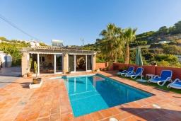 Бассейн. Испания, Фрихильяна : Небольшая уютная вилла рассчитана на разрешение до 4 человек, частный бассейн, 2 спальни с кондиционерами, 1 ванная комната