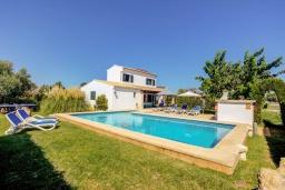 Бассейн. Испания, Польенса : Отдельно стоящая вилла для отдыха на испанском острове Майорка, с 3 спальнями, 3 ванными комнатами и собственным бассейном.