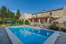 Бассейн. Испания, Польенса : Вилла для семейного отдыха на испанском острове Майорка, с 3 спальнями, 2 ванными комнатами и собственным бассейном.